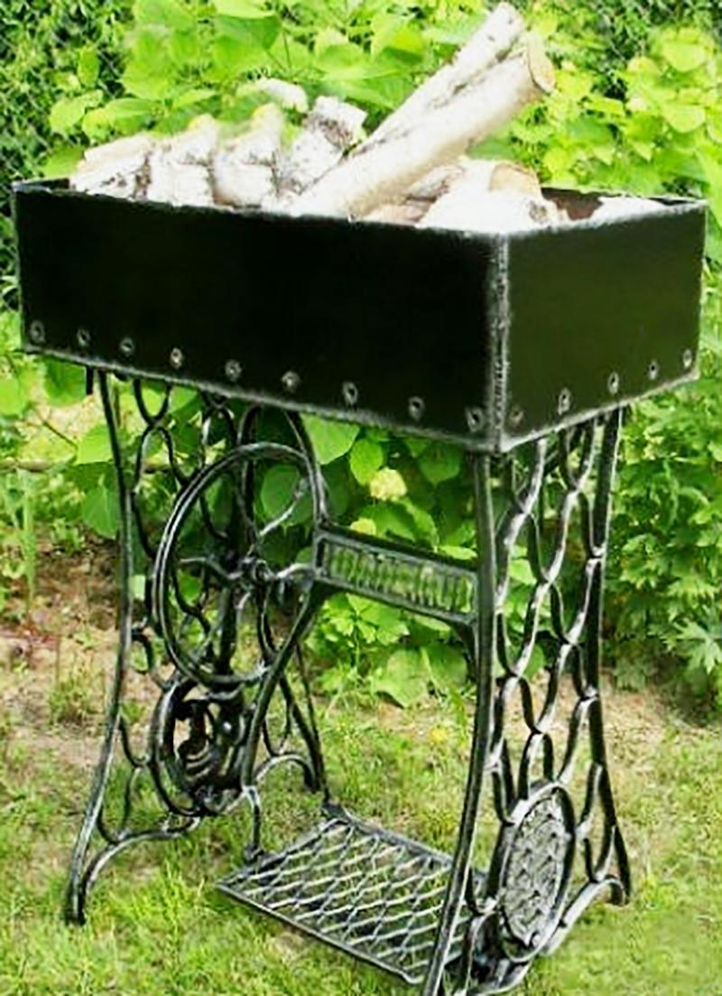 30 ideias maravilhosas com pé de maquina de costura antiga